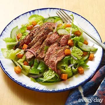 Grilled Steak Salad with Roasted Vegetables