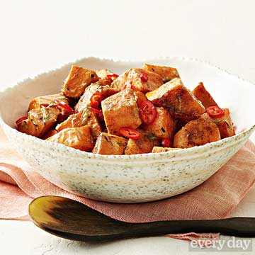 Sweet Potatoes with Scallion Butter