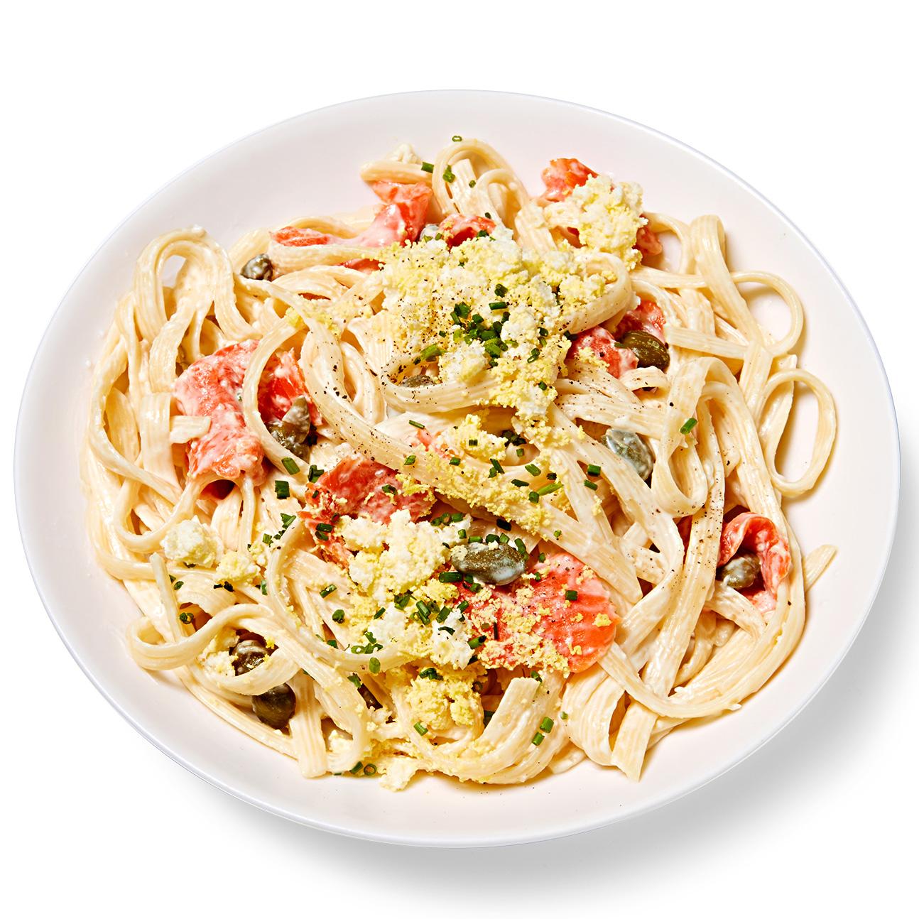 Egg & Smoked Salmon Pasta