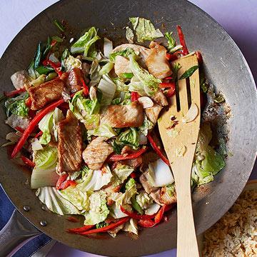 Ginger Pork & Cabbage Stir-Fry
