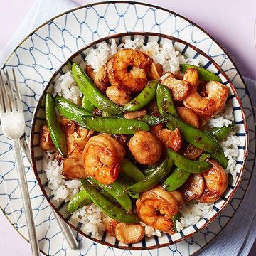 Shrimp & Snap Pea Stir-Fry