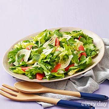 Escarole Salad with Fennel, Grapefruit & Herbs