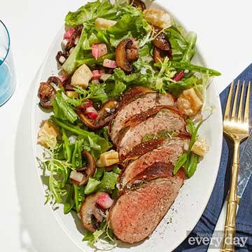 Jonathon Sawyer's Pork Saltimbocca with Spring Vegetable Salad