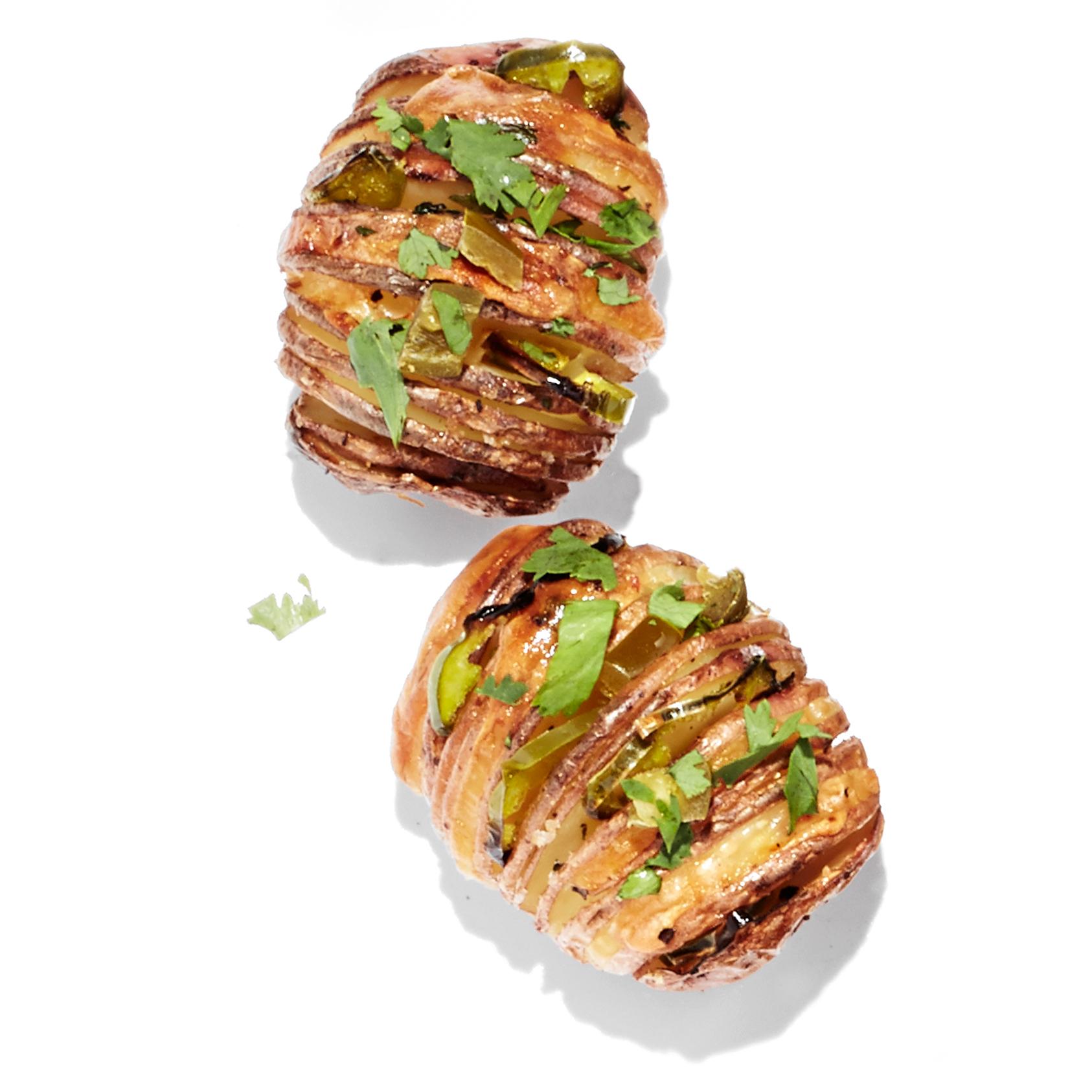 potato poppers hasselback potatoes