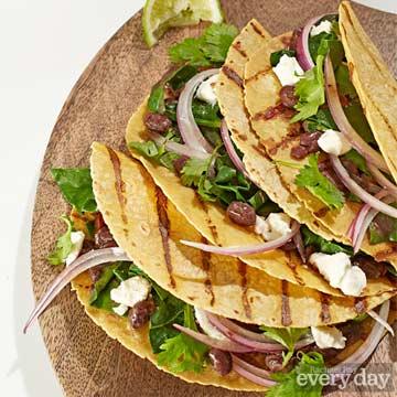 Rick Bayless' Greens & Beans Tacos
