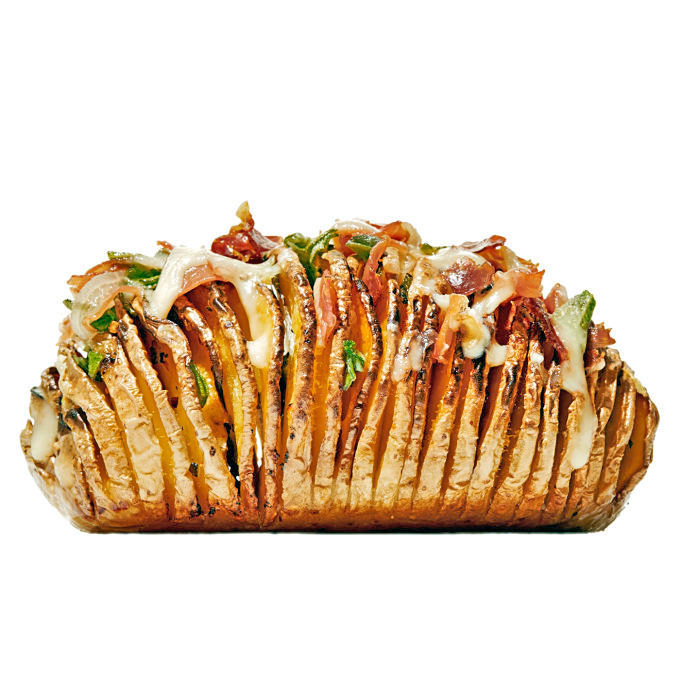 saltimbocca hasselback potatoes