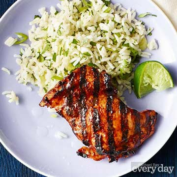 Soy-Glazed Chicken with Cilantro Rice