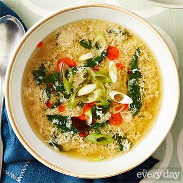 Spicy Spinach Eggdrop Soup