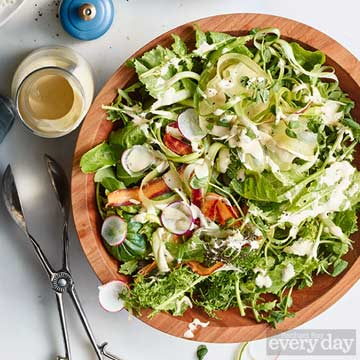 Green Salad with Creamy Anchovy Dressing