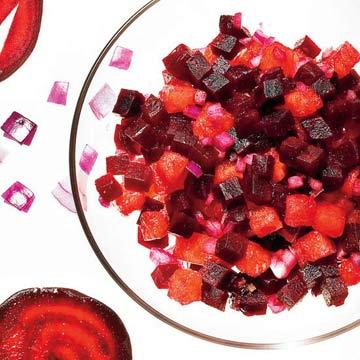 Roasted Beet & Watermelon Salsa