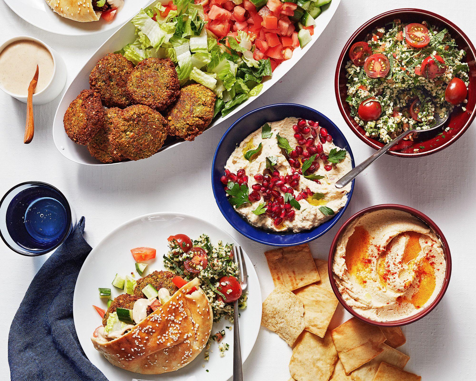 make-your-own falafel bar