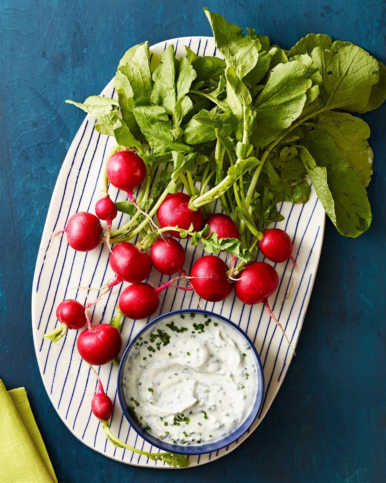 Radishes with Goat Cheese Dip