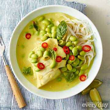 Coconut Cod with Rice Noodles