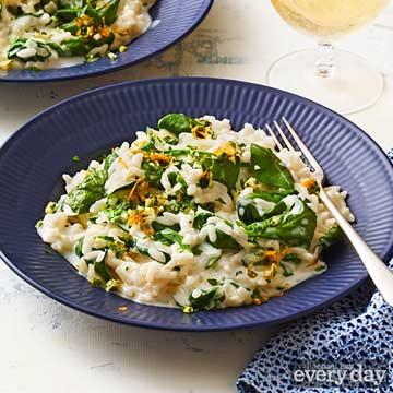 Spinach Risotto with Orange Gremolata