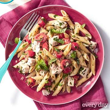 Swordfish & Pasta with Five Herbs & Cherry Tomatoes