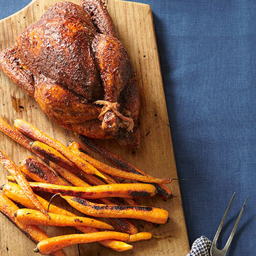 Roasted Moroccan Chicken with Carrots