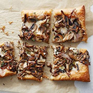 Cheesy Mushroom Tart