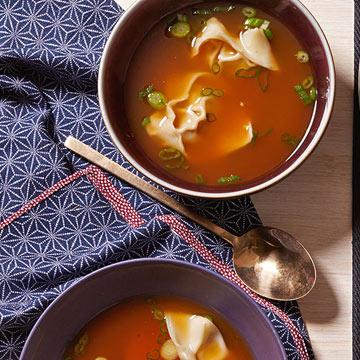 Sweet & Spicy Wonton Soup