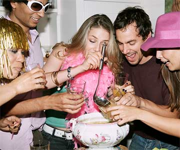 Drinks at a party