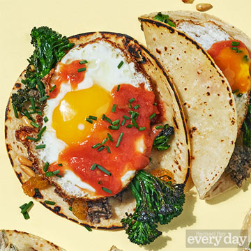 Broccolini Tacos with Fried Eggs