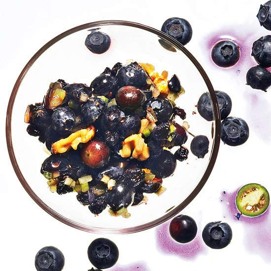 Sweet & Spicy Double Blueberry Salsa
