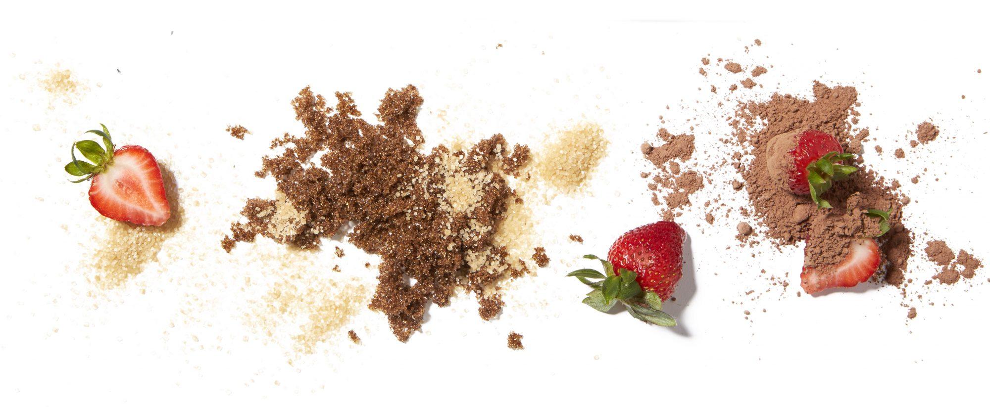 chocolate strawberry scrub
