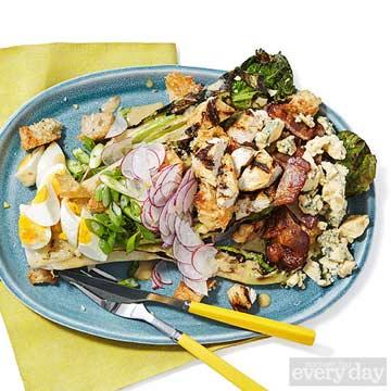 Grilled Romaine Caesar & Cobb Salad