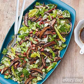 Mushroom, Celery & Crispy Onion Salad