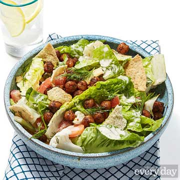 Roasted Chickpea Salad with Pita Chips
