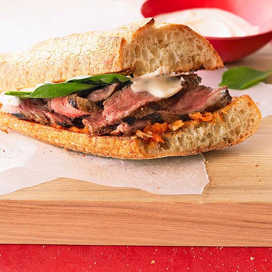 Grilled Habanero Steak Sandwich