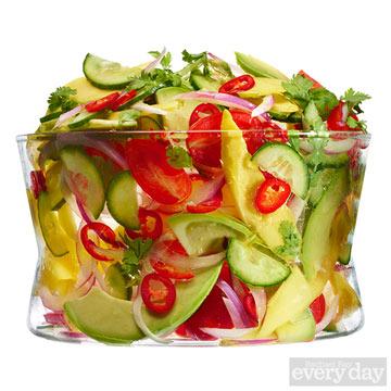 Mango-Tomato Salad with Chile Vinaigrette