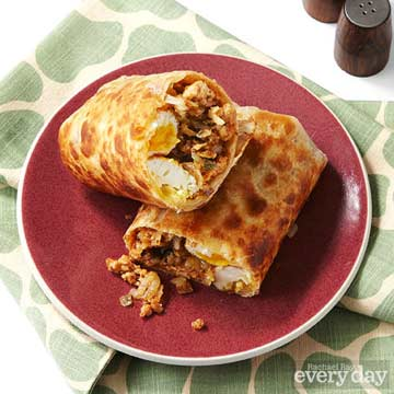 Barbecue Turkey & Apple Hash Crispy Burritos