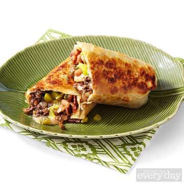 Beef, Baked Bean & Cheese Crispy Burritos