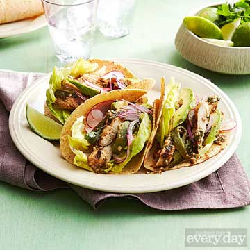 Grilled Chicken & Poblano Tacos