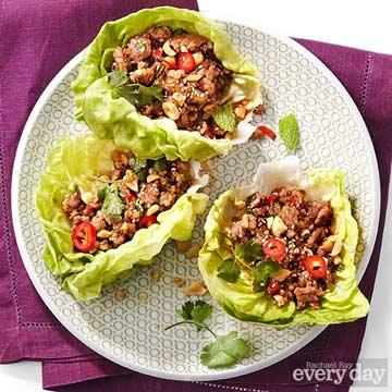 Plum-Sauce Pork or Chicken Lettuce Wraps