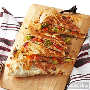 Smoky Mexican Stir-Fry Veggie Quesadillas