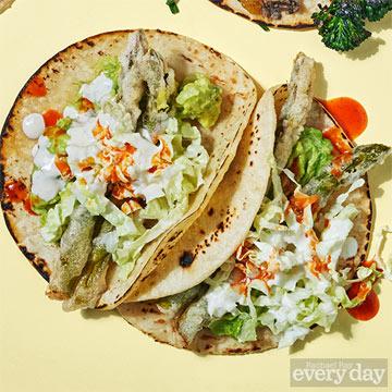 Asparagus Tempura Tacos