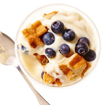 Blueberry-Waffle Trifle