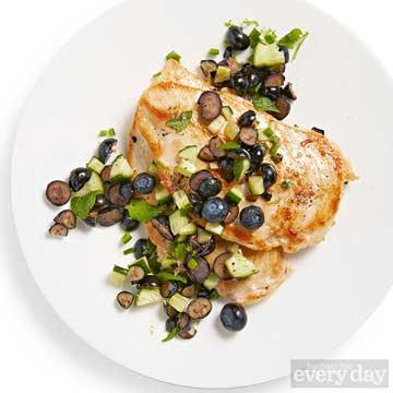 Chicken with Blueberry Salsa