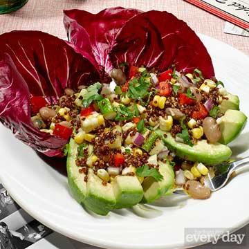 Stuffed Avocado Quinoa Salad