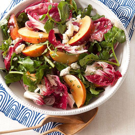Raddichio, Peach and Feta Salad