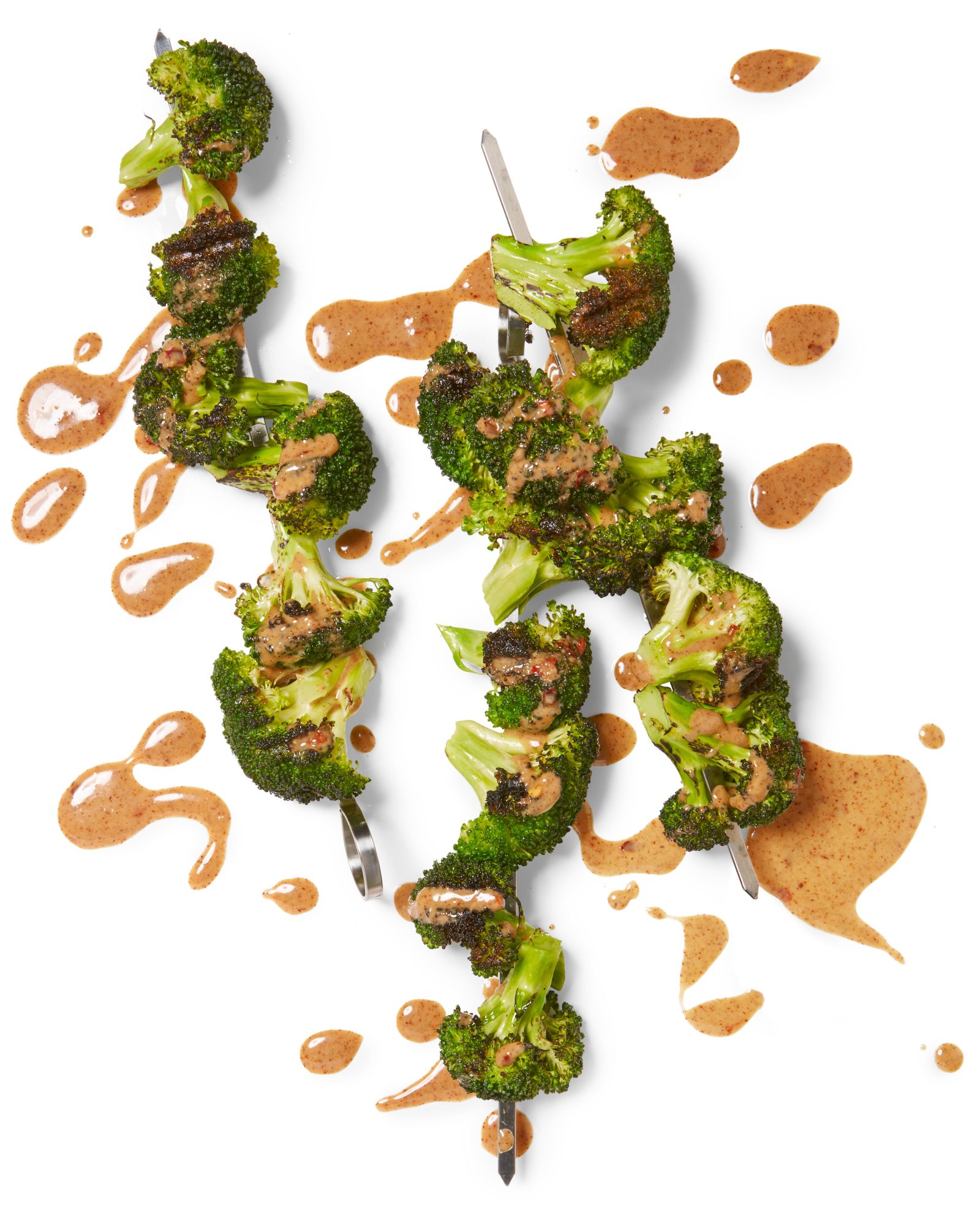 Nutty Broccoli Kebabs