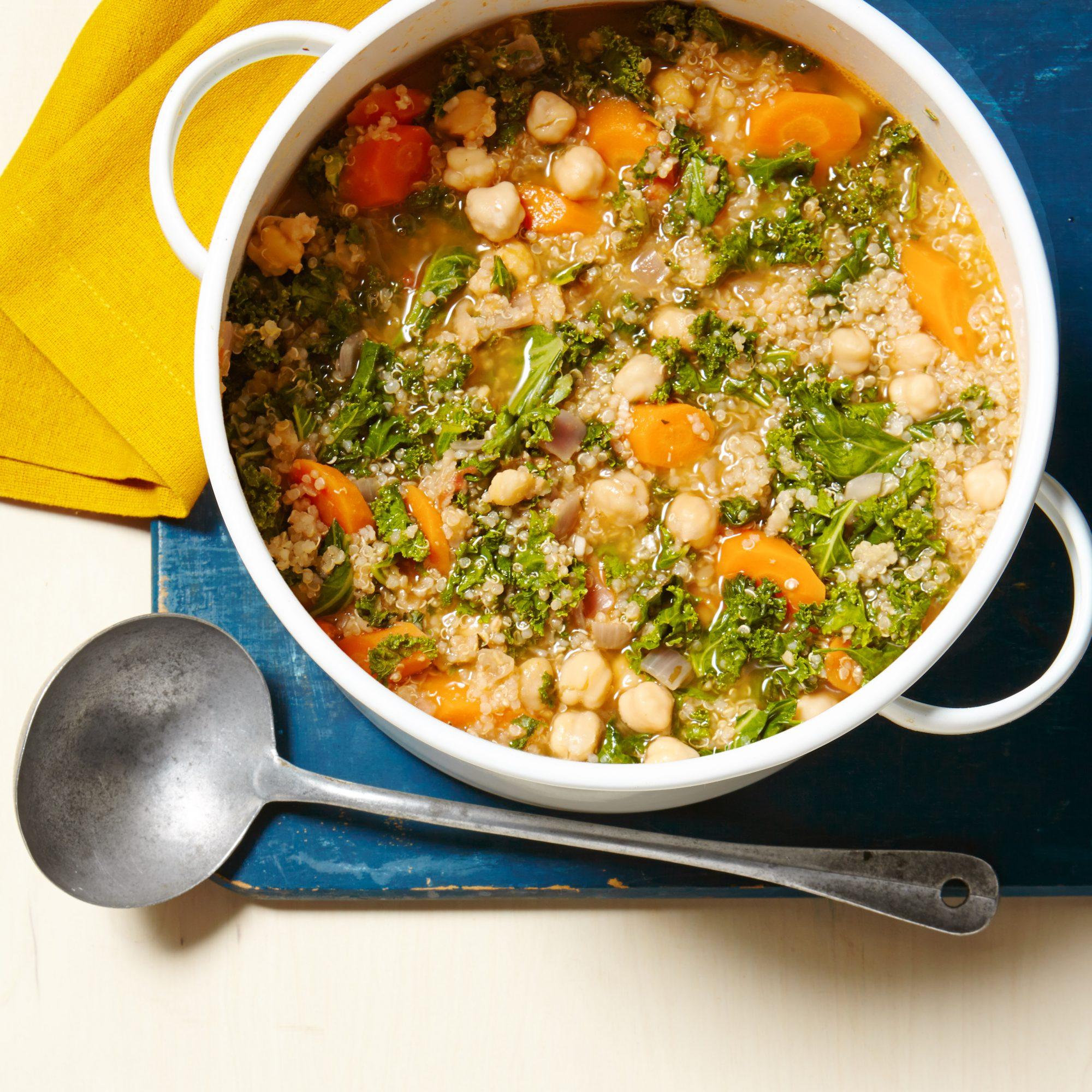 Chickpea, Kale & Quinoa Stew