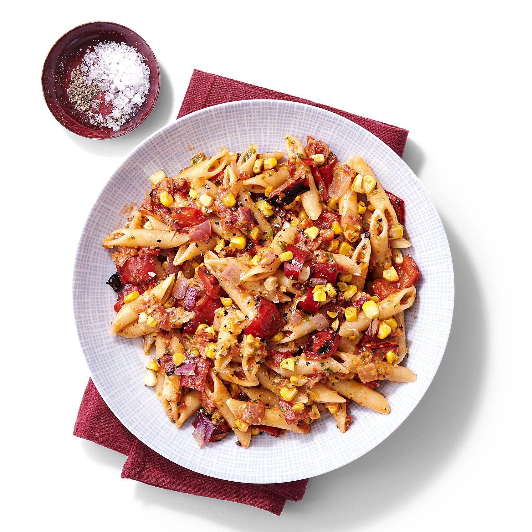 roasted corn peppers penne