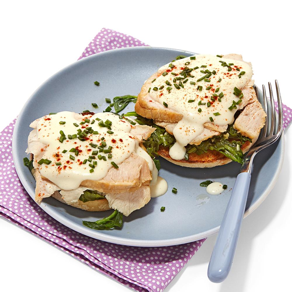 Breakfast-for-Dinner Turkey Benedicts