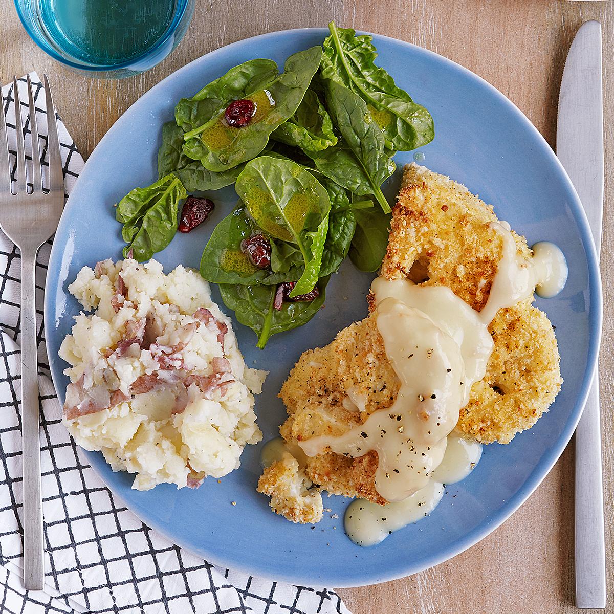 Baked Chicken-Fried Cauliflower Steaks