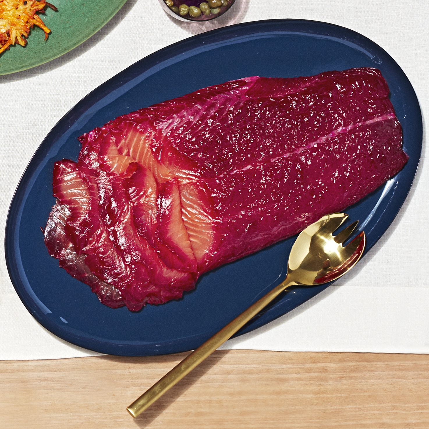 Beet-Cured Salmon with Lemon & Fennel