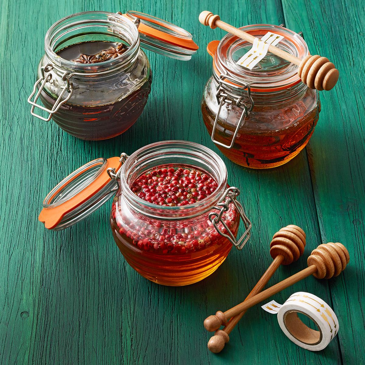 infused honey trio