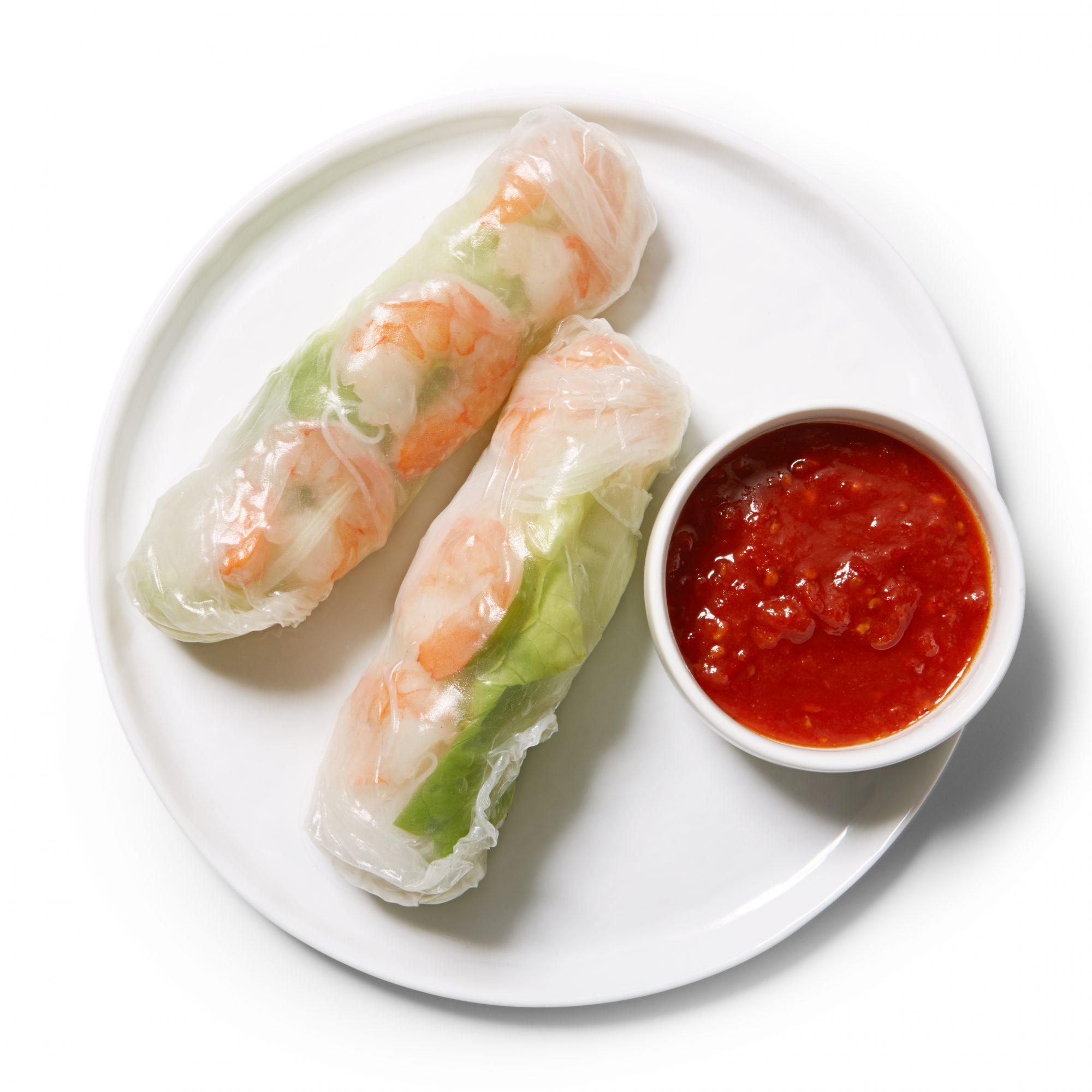 shrimp cocktail summer rolls
