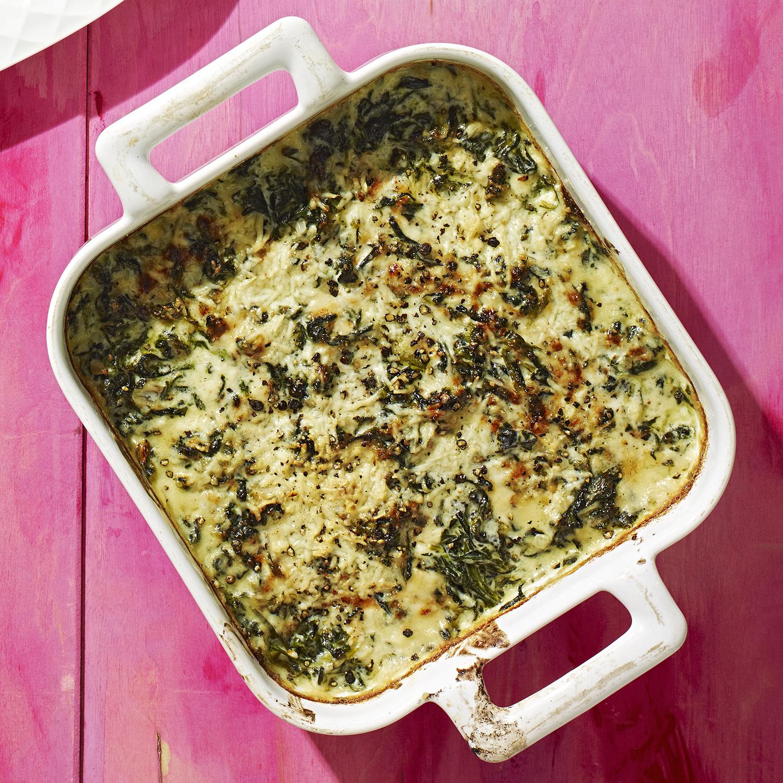 cacio e pepe creamed spinach